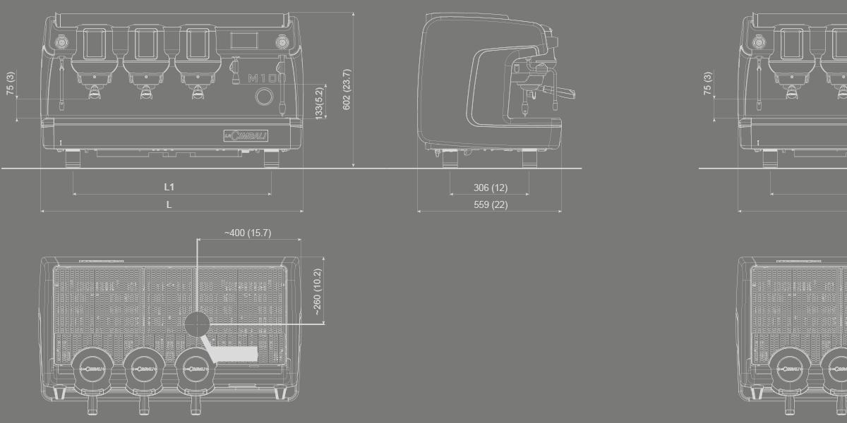m100 machines caf traditionnelles la cimbali. Black Bedroom Furniture Sets. Home Design Ideas